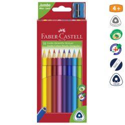 FABER CASTELL JUMBO háromszögletű színesceruza 10db
