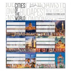 ARS UNA füzetcímke csomagolt, 3x6db Cities of the world