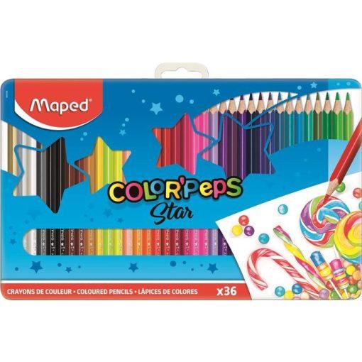MAPED Color'Peps színesceruza 36db fémdobozban