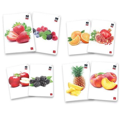 PIGNA Fruits füzet A/4 42 lapos kockás
