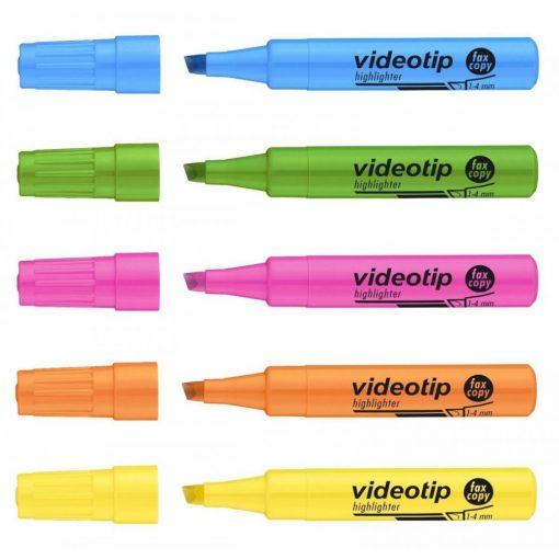 ICO szövegkiemelő Videotip 1-4mm, Fluor zöld