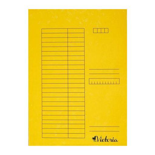 Papír pólyás dosszié A/4 5db sárga