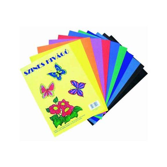 Kivágólap A/4 színes enyvezetlen 10db/csomag