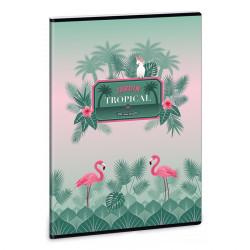 ARS UNA Pink Flamingo füzet A/4 40 lapos vonalas