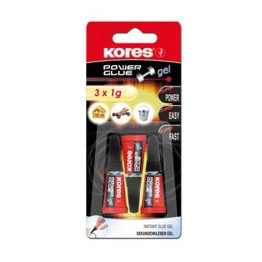 KORES Power glue pillanatragasztó gél 3x1g