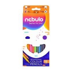 NEBULÓ színesceruza 12db hatszögletű