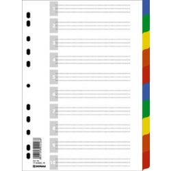 DONAU műanyag regiszter 1-10