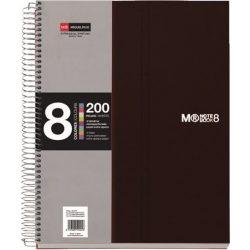 Spirálfüzet MIQUELRIUS 200 oldal, színregiszteres, 8 részes, A/5-ös vonalas