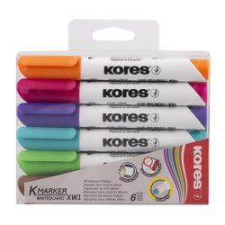 KORES tábla és flipchart marker, K-Marker 6db, 3-5 mm, kúpos